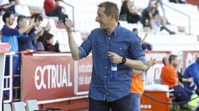 Ramis, durante un partido con el Albacete.