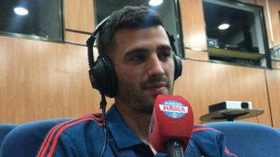 Gayá atiende a Radio MARCA en Las Rozas.