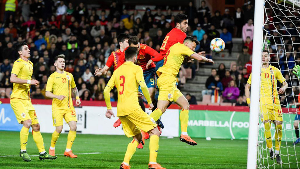 Mikel Merino marca de cabeza el único tanto del partido.