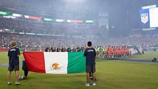 Protocolo previo al México vs Estados Unidos de 2018.