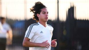 Lainez, en un entrenamiento del Tricolor/