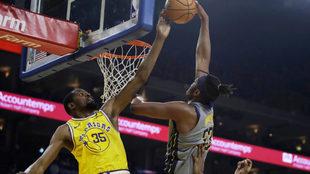 Durant brilla en paliza a Pacers que complican su pase a playoffs.