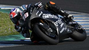 Nico Terol, con la MotoE en Jerez.