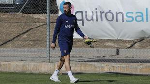 Álvaro Vázquez, durante un entrenamiento.