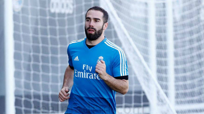 Dani Carvajal on Friday at Valdebebas.