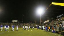 Estadio Narcís Sala durante un partido de Copa entre el Sant Andreu y...