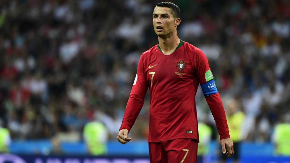 Cristiano Ronaldo, con la selección de Portugal
