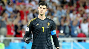 Thibaut Courtois playing for Belgium