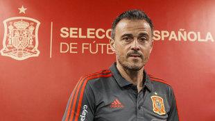 Luis Enrique, seleccionador nacional, en la rueda de prensa previa al...
