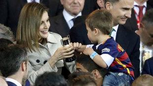 La Reina Letizia, en la final de Copa entre Barça y Sevilla