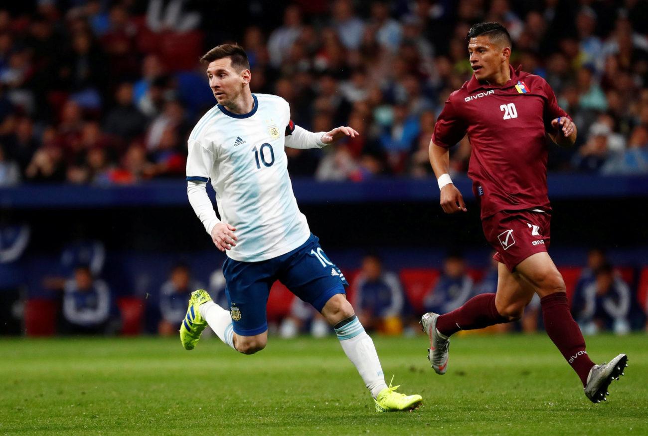 Messi en acción.