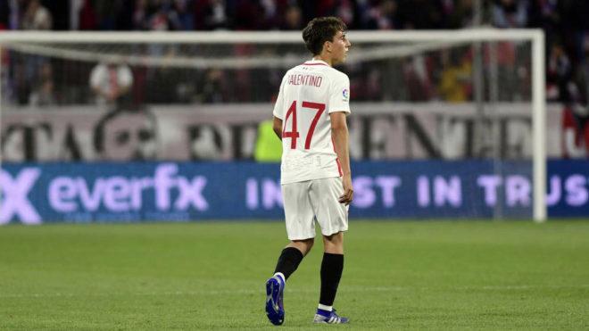 Valentino, en el partido ante el Schalke.