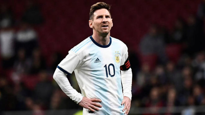 Leo Messi, durante el partido ante Venezuela.