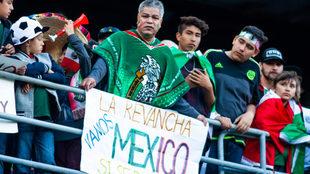 Aparece el grito ¡Ehhhhh pu...! en el México vs Chile en San Diego.