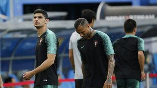 Guedes con la selección de Portugal.