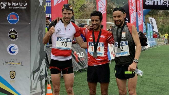 Andreu Simón, Zaid Ait Malek y Borja Fernández, en meta.