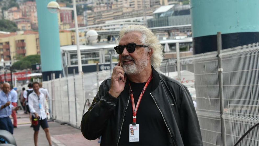 Briatore, en el GP de Mónaco 2018.