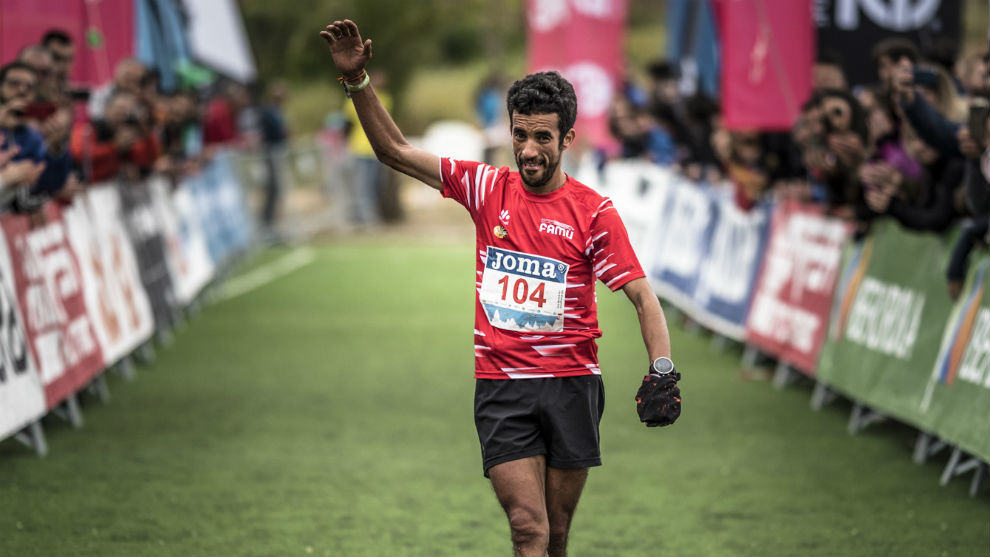 Zaid Ait Malek, a su entrada en meta.