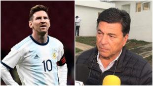 Messi y Passarella.