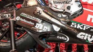 El 'spoiler' sobre la Ducati.