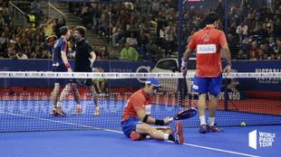 Navarro y Lebrón celebran un punto ante Lima y Belasteguin