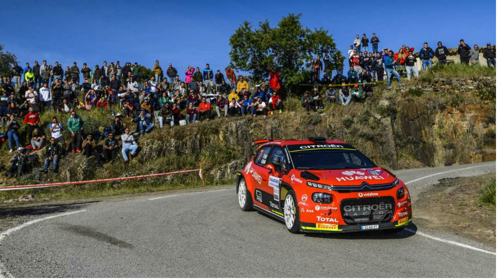 El joven madrileño inaugura el palmarés del nuevo Citroën Rally...