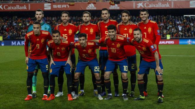 Spain's starting XI vs Norway.