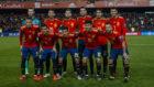 El once de España ante Noruega.