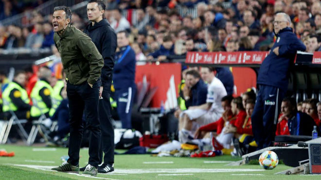 Luis Enrique during the game against Norway.
