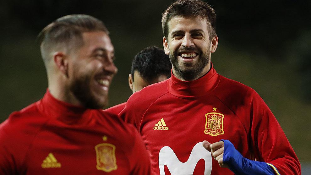 Sergio Ramos and Gerard Pique.