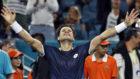 Ferrer celebra su victoria ante Zverev
