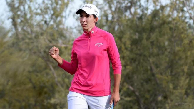 Carlota Ciganda celebra su gran actuación en la tercera jornada del...