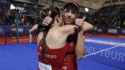 Marta Ortega y Marta Salazar celebran su victoria en la final del...