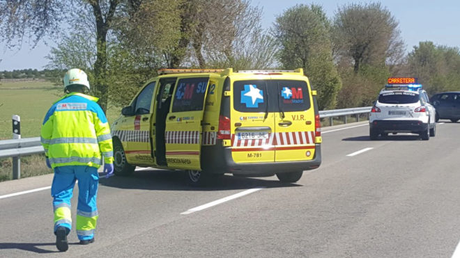 Accidente en la M-209 de Madrid