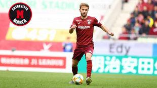 Sergi Samper, en su debut con el Vissel Kobe.