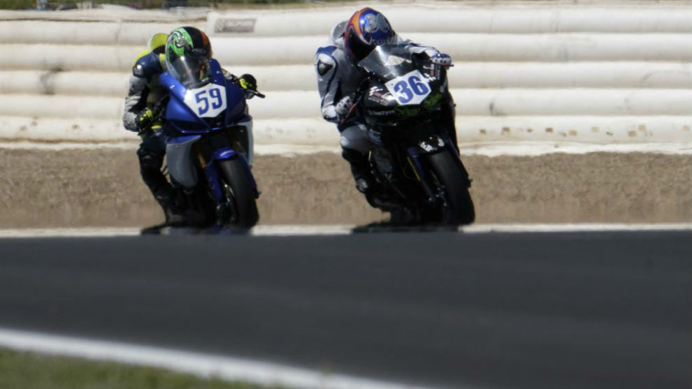 Marcos Garrido with the No.36 today in Jerez.