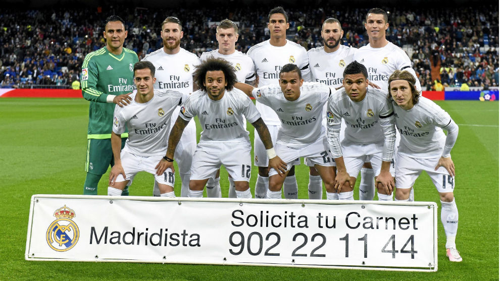 One of Real Madrid's line-ups in 2015/16.