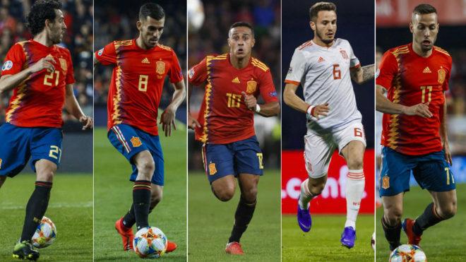 Parejo, Ceballos, Thiago, Saul and Canales.