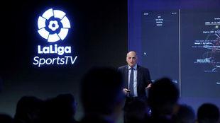 El presidente de LaLiga, en la presentación de LaLiga Sports TV.