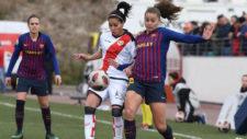 Partido entre el Rayo y el Barcelona de la Liga Iberdrola.