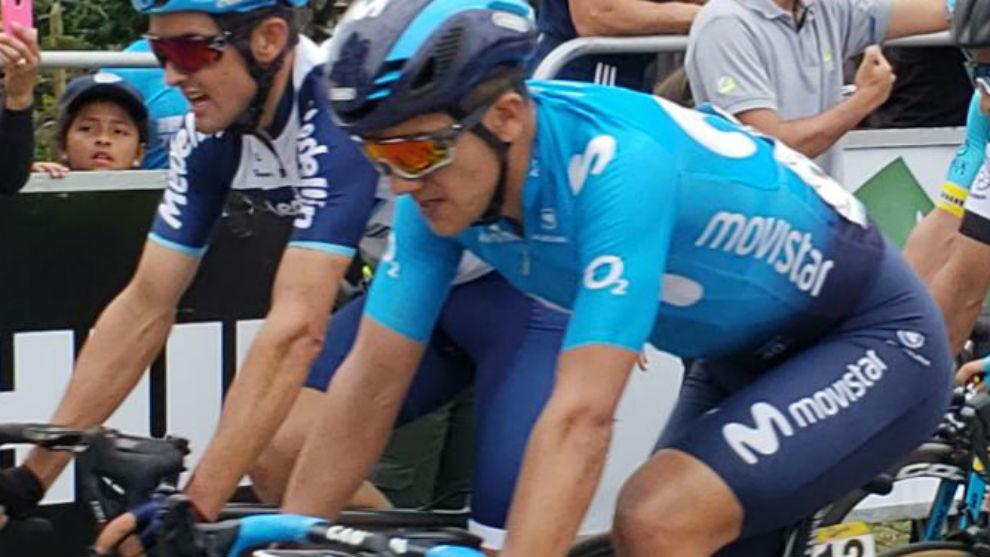 Richard Carapaz, en febrero durante el Tour Colombia 2.1