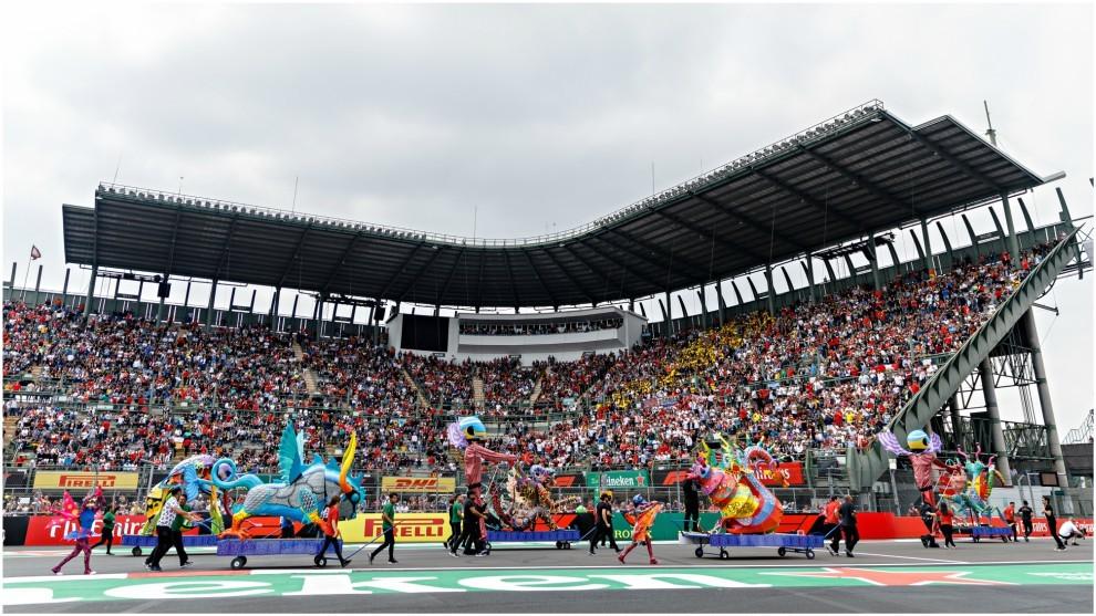 Una de las tribunas del Hermanos Rodríguez en el GP de México 2018.