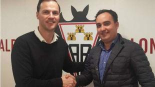 Víctor Varela, vicepresidente del Albacete Balompié y Rafael López,...