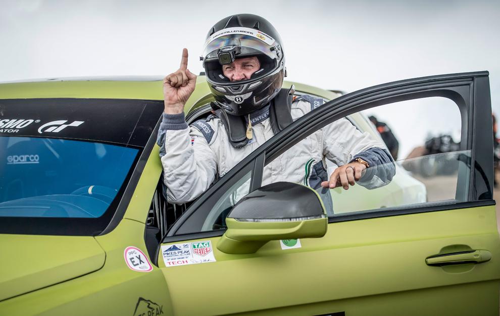 Rhys Millen ya pilotó el Bentayga en Pikes Peak 2018.