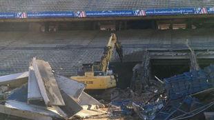 Imagen del Calderón en demolición subida por el Betis a las redes...