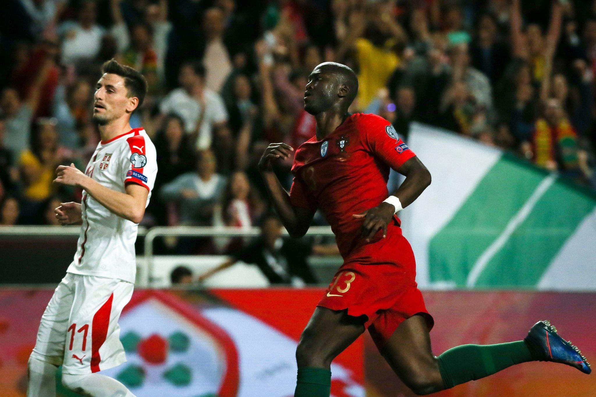 Danilo Pereira celebrates his goal.