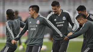 La selección mexicana se preparó para el duelo ante Paraguay