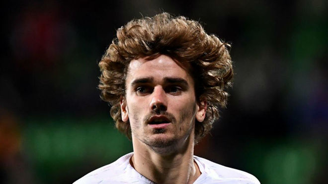 Antoine Griezmann during France's match against Moldova