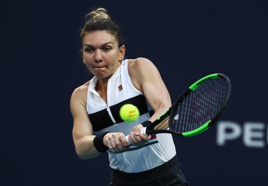 Simona Halep, en su partido ante Venus Williams.