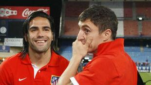 Radamel Falcao and Cristian Rodriguez